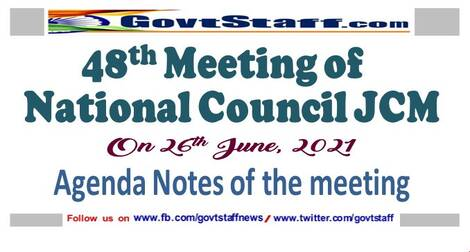 Agenda notes for the 48th meeting of National Council JCM to be held on 26/06/2021