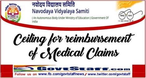 Ceiling for reimbursement of Medical Claims – Navoday Vidyalaya Samiti order dated 07.06.2021