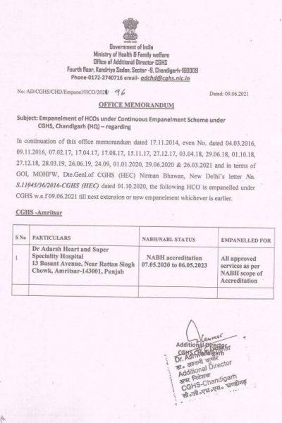 empanelment-of-dr-adarsh-heart-and-super-speiality-hospital-amritsar-under-cghs