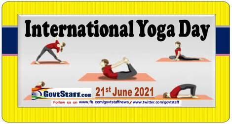 International Day of Yoga (IDY) on 21st June 2021 – Consolidated Activity Plan of International Day of Yoga (IDY)-2021