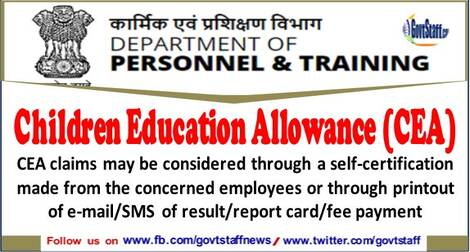Clarifications on Children Education Allowance(CEA) during Covid-19 epidemic Lockdown period – Railway Board order
