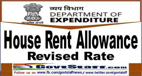 7th CPC House Rent Allowance (HRA) – Effective rate w.e.f. 01.07.2021 – No need to issue separate order : FinMin clarification