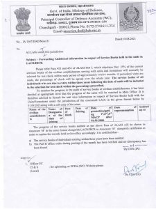 Forwarding Additional information in respect of Service Books held in the units in LACR/IRCR