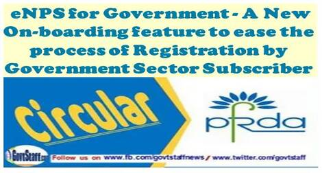 eNPS for Government – A New On-boarding feature to ease the process of Registration by Government Sector Subscriber