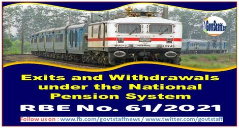 Exits and Withdrawals under the National Pension System: RBE No. 61/2021