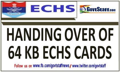 Handing Over of 64 KB ECHS Smart Card: ECHS Order 16.09.2021