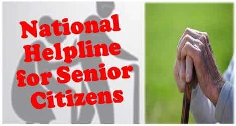 National Helpline for Senior Citizens-Elder line Toll Free Number -14567