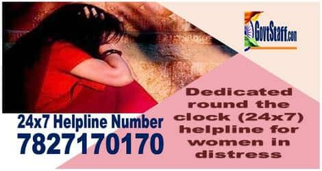 Dedicated round the clock (24×7) helpline for women in distress