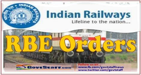 RBE No. 74/2021: Retention of Railway quarters at the previous place of posting by Railway employees posted to Northeast Frontier Railway
